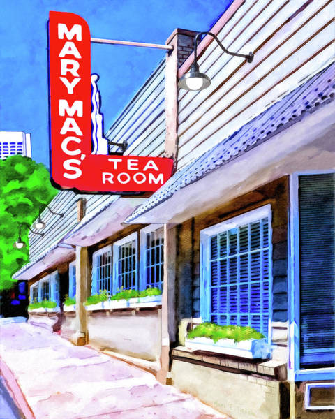 Wall Art - Mixed Media - Old Atlanta - Mary Mac's Tea Room by Mark Tisdale