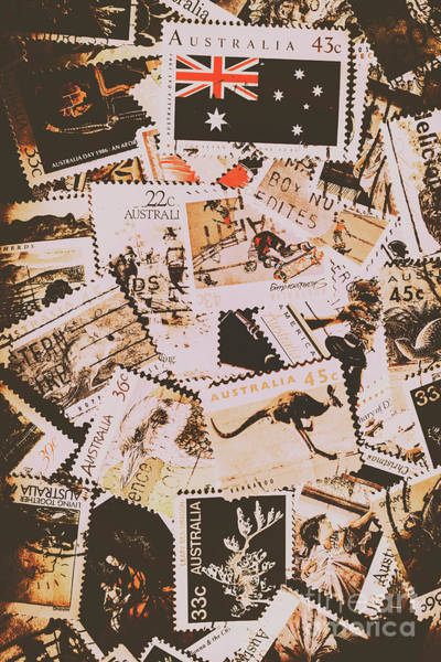 Communication Wall Art - Photograph - Old Australia In Stamps by Jorgo Photography - Wall Art Gallery