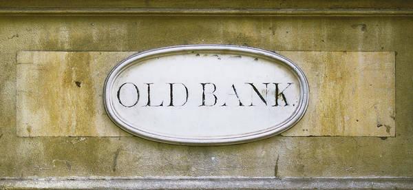 Photograph - Old Bank Plaque On The Wall by Jacek Wojnarowski