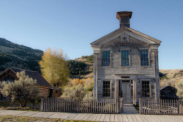 Photograph - Old Bannack Schoolhouse And Masonic Temple 4 by Teresa Wilson