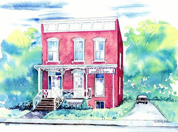 Wall Art - Painting - Old Barber Shop by Melody Allen