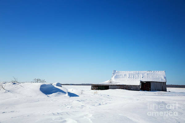 Old Quebec Photograph - Old Barn And Snow Drifts Canada by Jane Rix