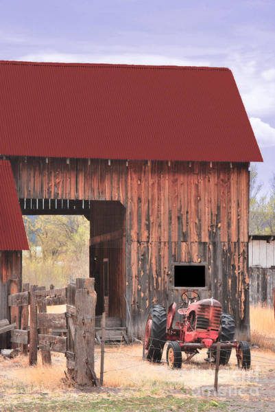Photograph - Old Barn And Tractor by Donna Greene
