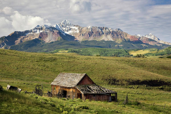 Old Barn And Wilson Peak Horizontal Art Print