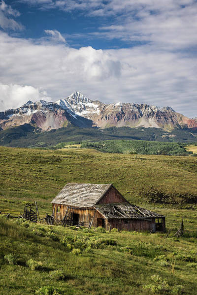 Old Barn And Wilson Peak Vertical Art Print
