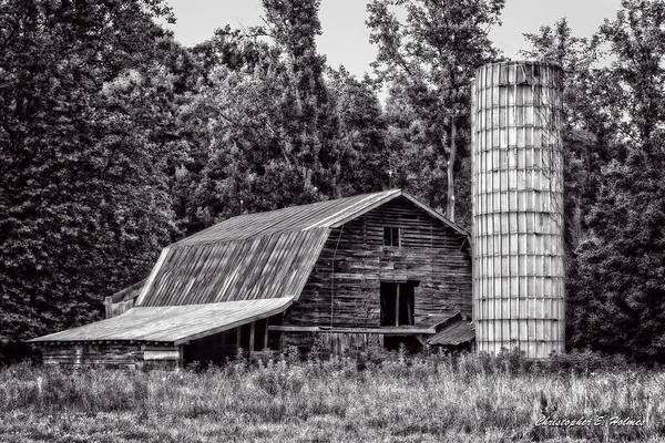 Photograph - Old Barn - Bw by Christopher Holmes