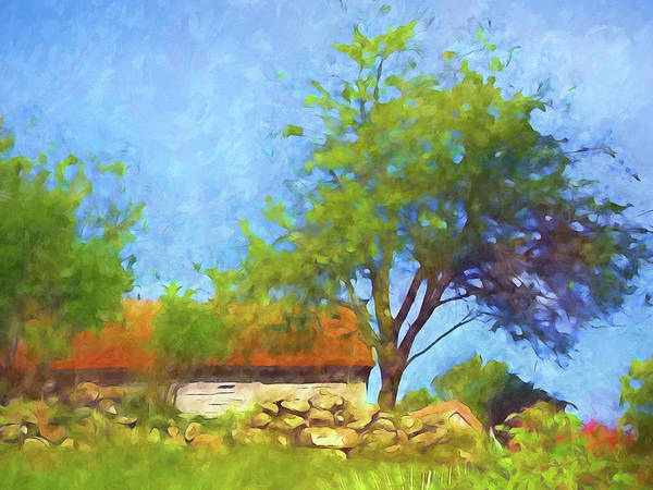 Painting - Old Barn Impressionist by Lutz Baar
