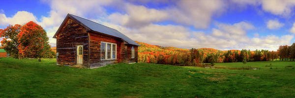 Photograph - Old Barn In Autumn - Corinth Vermont by Joann Vitali