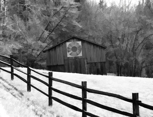 Fence Mixed Media - Old Barn In Kentucky by Dan Sproul