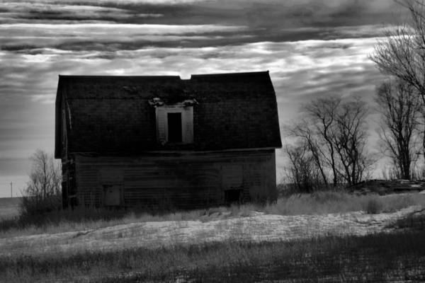 Wall Art - Photograph - Old Barn In North Dakota Black And White by Jeff Swan