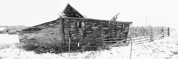 Photograph - Old Barn In Snow Storm by Dutch Bieber