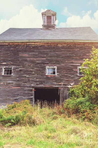 New England Barn Photograph - Old Barn In The Sun by Edward Fielding