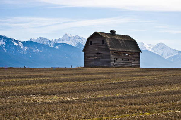 Old Barn, Mission Mountains 2 Art Print
