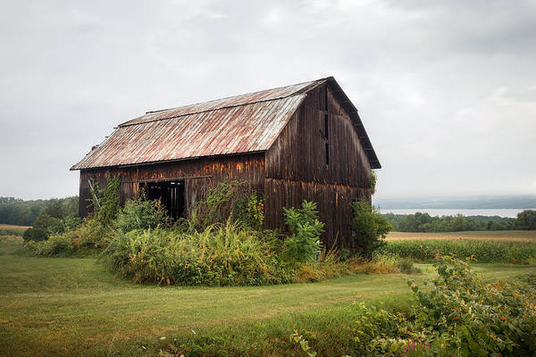Photograph - Old Barn On Seneca Lake - Finger Lakes - New York State by Gary Heller