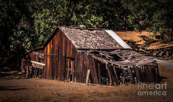Old Barn River Road Sonoma County Art Print