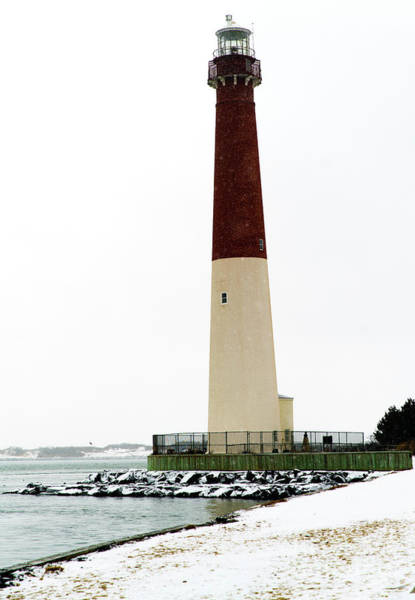 Photograph - Old Barney In Winter On Long Beach Island by John Rizzuto
