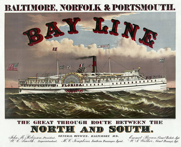 Norfolk Southern Wall Art - Photograph - Old Bay Line Of Baltimore  1877 by Daniel Hagerman