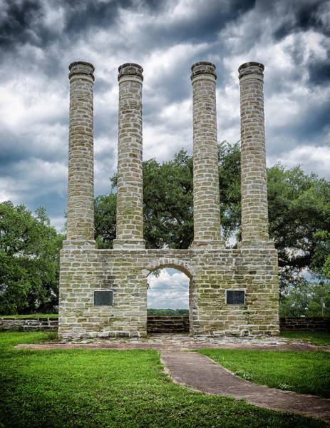 Wall Art - Photograph - Old Baylor Columns by Stephen Stookey