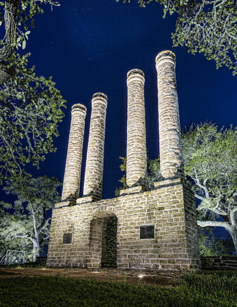Wall Art - Photograph - Old Baylor Night by Stephen Stookey