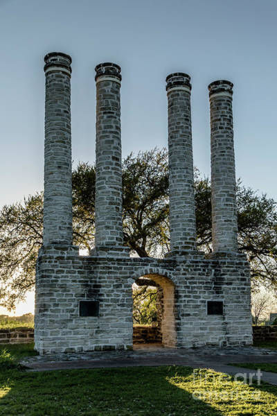 Photograph - Old Baylor University Columns At Sunset by Teresa Wilson