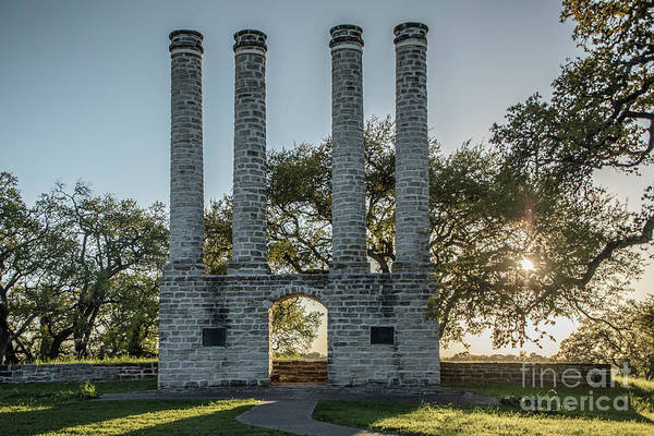Photograph - Old Baylor University In The Setting Sun - Horizontal by Teresa Wilson