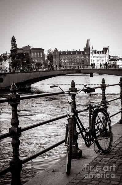Wall Art - Photograph - Old Bicycle In Central Stockholm by RicardMN Photography