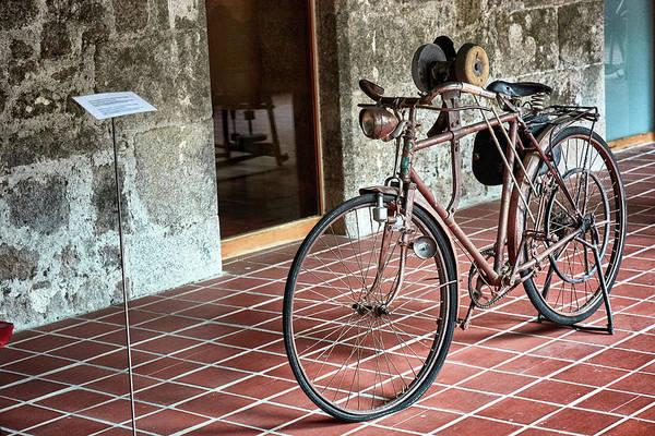 Photograph - Old Bicycle In The Monastery Of Santo Estevo De Ribas Del Sil by Fine Art Photography Prints By Eduardo Accorinti