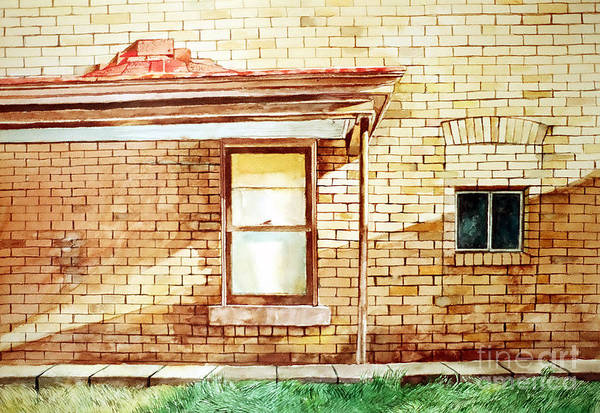 Painting - Old Biege House by Christopher Shellhammer