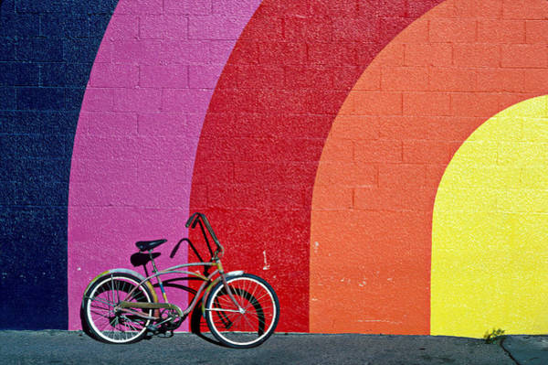 Rainbow Photograph - Old Bike by Garry Gay