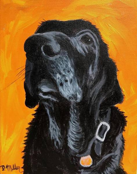 Painting - Old Black Dog by Dustin Miller