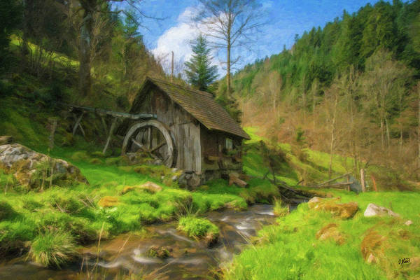 Painting - Old Black Forest Mill by Dean Wittle