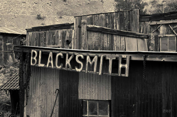 Photograph - Old Blacksmith Shop Sign Toned  by David Gordon