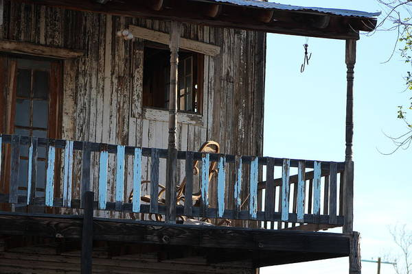 Photograph - Old Blue Balcony by Colleen Cornelius