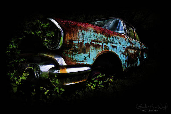 Photograph - Old Blue Chevy by Glenda Wright