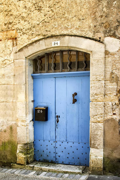 Photograph - Old Blue Door - France by Georgia Fowler