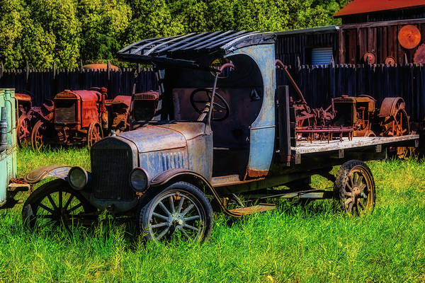 Junker Wall Art - Photograph - Old Blue Ford Truck by Garry Gay