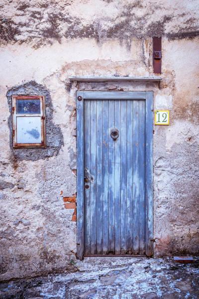 Photograph - Old Blue Italian Door by Maria Heyens