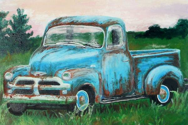 Wall Art - Painting - Old Blue by Megan Donnelly