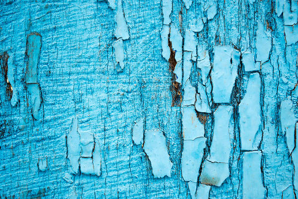 Old Blue Wood Art Print