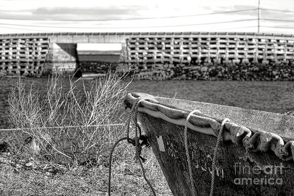 Wall Art - Photograph - Old Boat At The Cribstone Bridge by Olivier Le Queinec