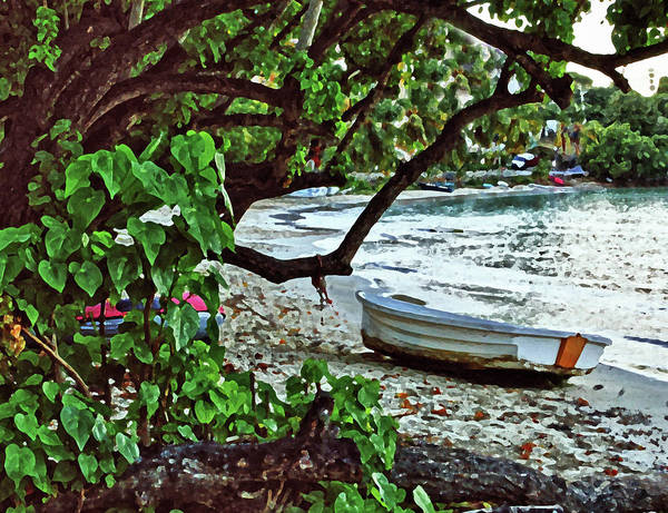Digital Art - Old Boat On The Beach by Michael Thomas