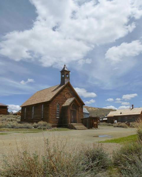 Bodie Ghost Town Wall Art - Photograph - Old Bodie Church  by Gordon Beck