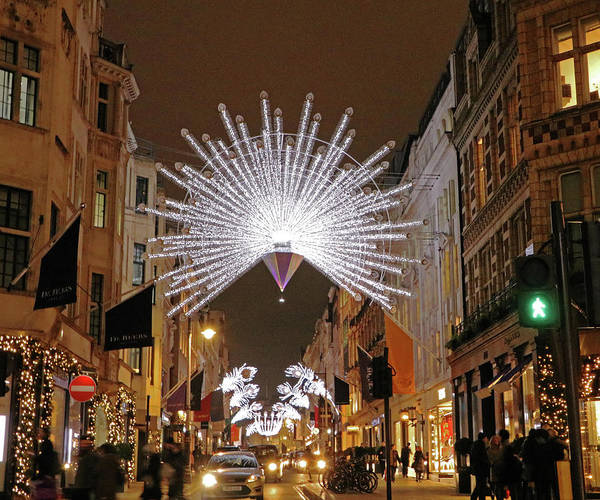 Photograph - Old Bond Street Lights by Tony Murtagh