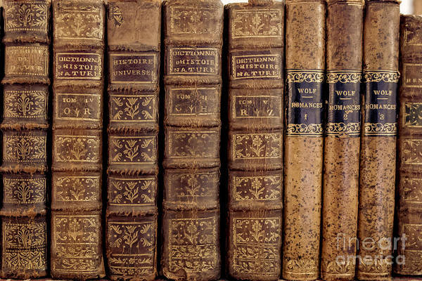 Book Shelf Photograph - Old Books by Edward Fielding