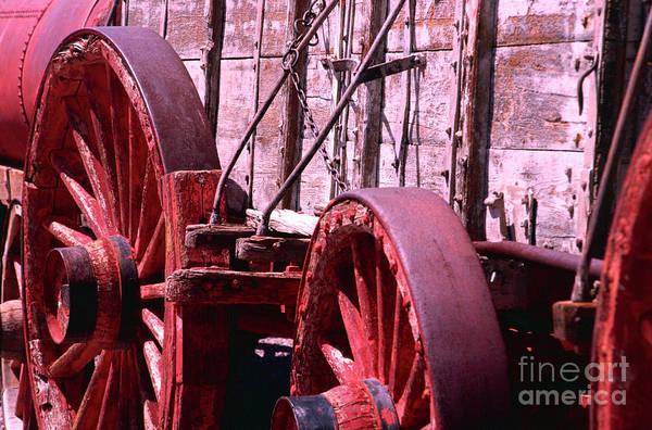 Photograph - Old Borax Wagon by Paul W Faust - Impressions of Light