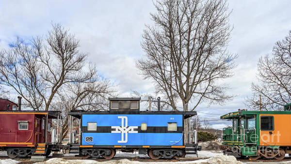 Wall Art - Photograph - Old Box Cars Lake Winnipesaukee New Hampshire by Edward Fielding