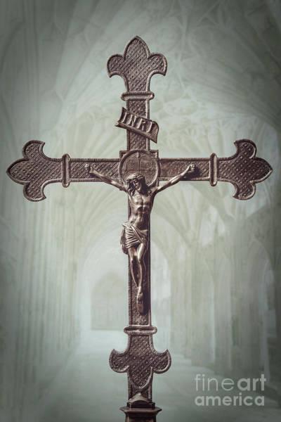 Wall Art - Photograph - Old Brass Cross by Amanda Elwell