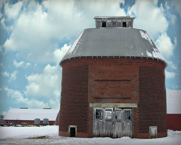 Broken Sky Digital Art - Old Brick Corn Crib by Kathy M Krause