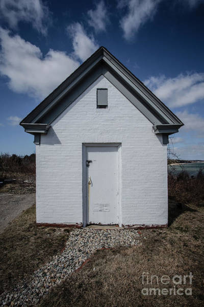 Photograph - Old Brick Outbuilding Cape Cod by Edward Fielding