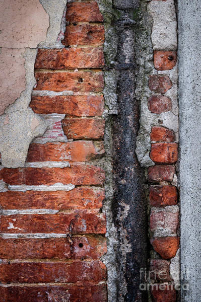 Cement Wall Art - Photograph - Old Brick Wall Fragment by Elena Elisseeva